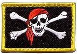 Flaggen Aufnäher Pirat mit Kopftuch Fahne Patch + gratis