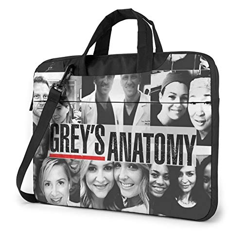 Grey's Anatomy Laptop Shoulder Messenger Bag Portable Case Tablet Bag for 13 Inch 14 Inch 15 Inch Laptop Briefcase 13 Inch