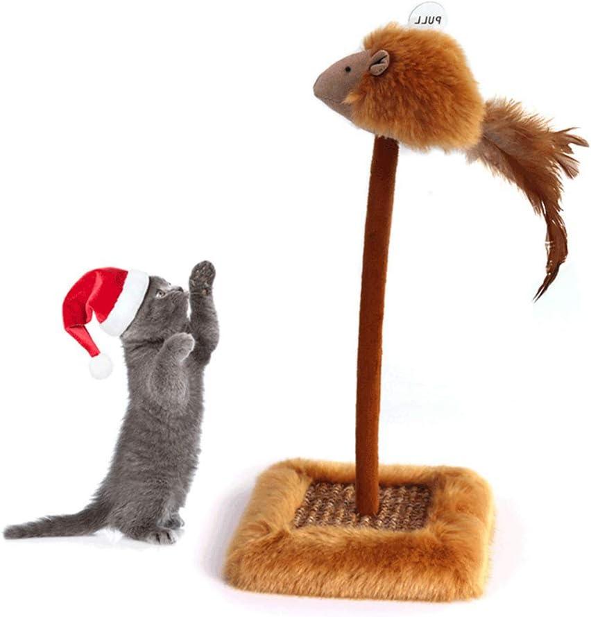 muelles Juguete de Gato Teaser Kitty Mouse Ball Juego de Actividades Scractch Board UNWSTYU Juguete Interactivo para Gatos