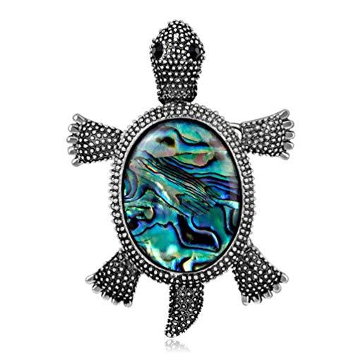 KYMLL Natürliche Shell Schildkröte Broschen Käfer Insekt Brosche Hüte Schal Kleid Clip Schmuck Geschenke für Frauen Männer