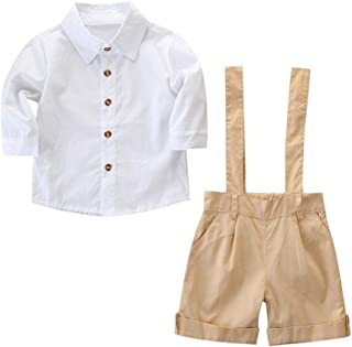 Jugendhj Babysuit 🇨🇦🇨🇦Toddler Kids Baby Boys Outfit Clothes Shirt+Shorts Pants Gentleman Party Suit