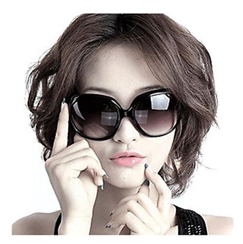 Aharan9 (アハランナイン)サングラス レディース 大きい フレーム メガネケース付き UV400 紫外線 カット 小顔効果