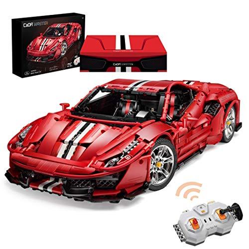 THj Technic Sports Car, 1: 8 2.4G Supercar Racing Car Model Remote Control Racing Car Kit de construcción, Compatible con Lego (3187Pcs)