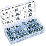 HSEAMALL – Lot de 135 colliers de serrage pour tuyau, plaqué zinc,...