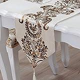 RZJF Moderne Minimalistische Mode Tischfahne Europäisch-Amerikanischen Nordischen Tischdecke Bett Fahne Bett Schal Beige Tischfahne 32 * 180Cm