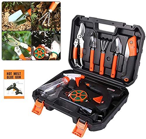 Sayiant 10-in-1Garden Tools Set,Garden tool combination, electric glue gun set,Gardening tool set with watering can