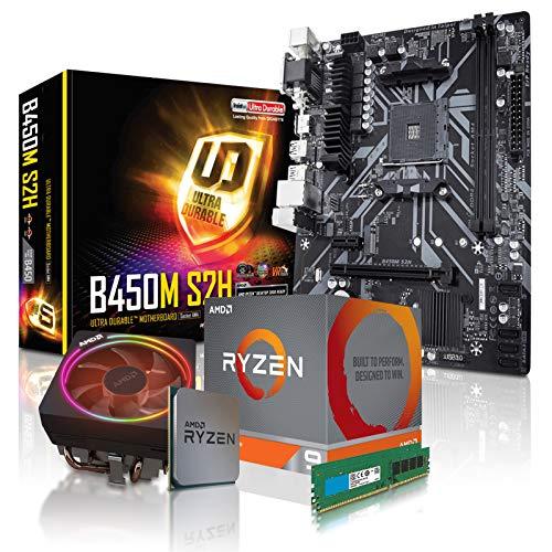 dcl24.de [11782] PC Aufrüstkit AMD 9-3900X 12x3.8 GHz - 32GB DDR4, ohne onBoard Grafik, eigenständige Grafikkarte notwendig, Mainboard Bundle, B450 Kit, für Spiele und Office geeignet
