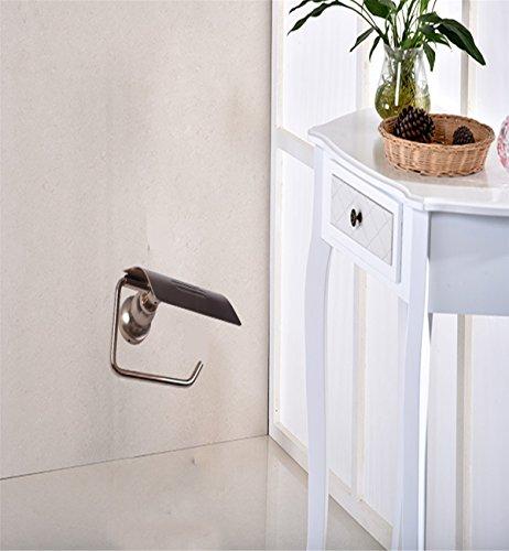 Sucastle® 17*10*8(cm) aluminium Porte Rouleau Papier Toilette Acier Inoxydable Métal Chromé Miroir Poli Dérouleur Papier Accessoirs WC,Déco Murale WC, Distributeur Papier WC-Accessoire Toilettes Salles de Bains