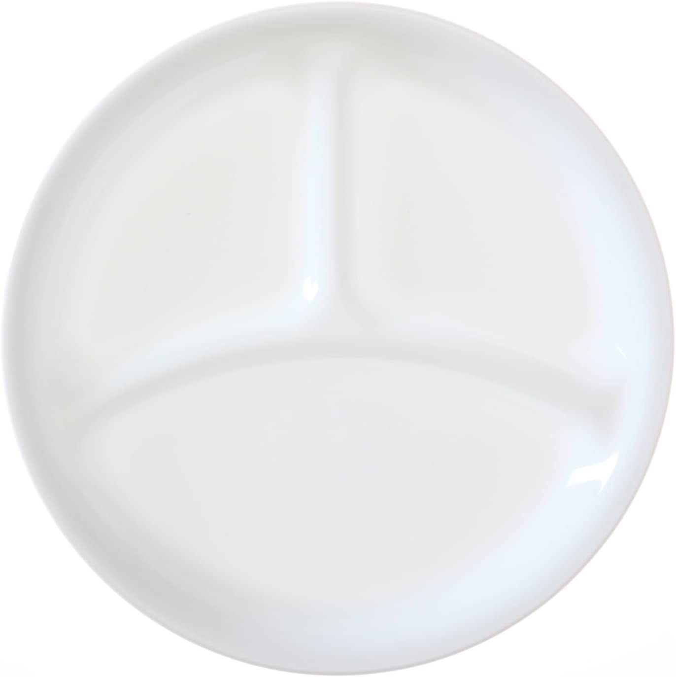 | Corelle Livingware set of 4 8-1/2-Inch Divided Dish, Winter Frost White: Divided Trays & Platters