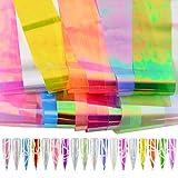 メーリンドス ネイルホログラムネイルホロ 18色ネイルシールフィルムジェルネイルパーツ オーロラホイルネイル 4 100cm