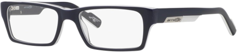 Arnette Sync Unisex Eyeglasses, 1097 bluee On White bluee Transparent, 4916130