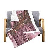 Enhusk Throw Quilt Blanket Fantasy Künstlerischer Bogen Rose Pink Vine Dove Candle Mikrofaser Gesteppte Bettdecke 70x80 Zoll Multicolor Dekorativ Für Bed Couch Sofa