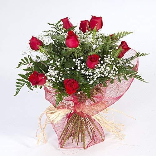Ramo de 12 rosas rojas naturales FLORES FRESCAS-Entrega en 2