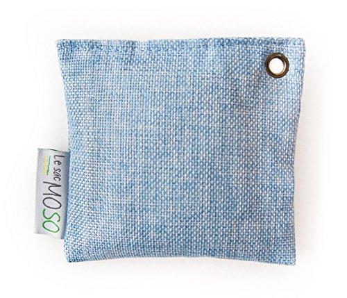 Die Moso Bag Mini Version 75 Gr - Luftreiniger , Lufterfrischer, Natürlich, geruchlos - enthält 100% Bambuskohle - speziell angepasst für Kühlschrank und engen Räumen ...
