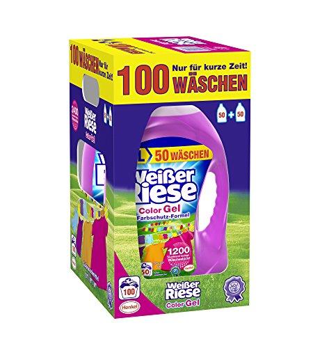 Weißer Riese Color Gel Waschmittel , 1er Pack (1 x 100 Waschladungen)
