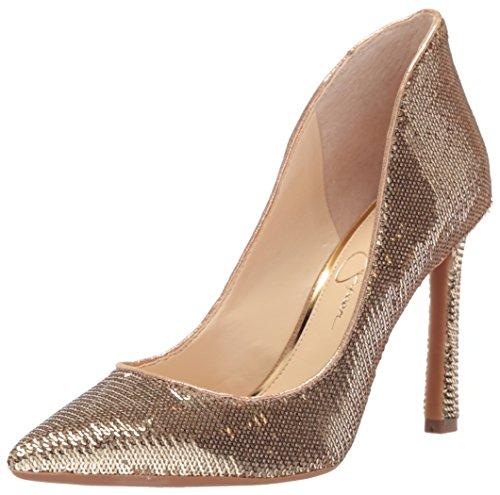 Jessica Simpson Zapatos Parma para Mujer, Color Dorado, Talla 41 EU