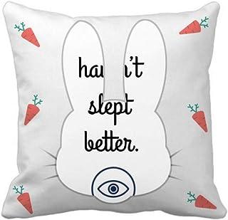 OFFbb-USA Sleep Enjoy Comfort Expression Rabbit - Funda cuadrada para almohada