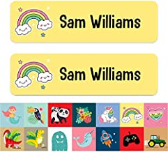 Small Personalised Stick On Waterproof Equipment Name Labels Navy Pack of 60 Care Home