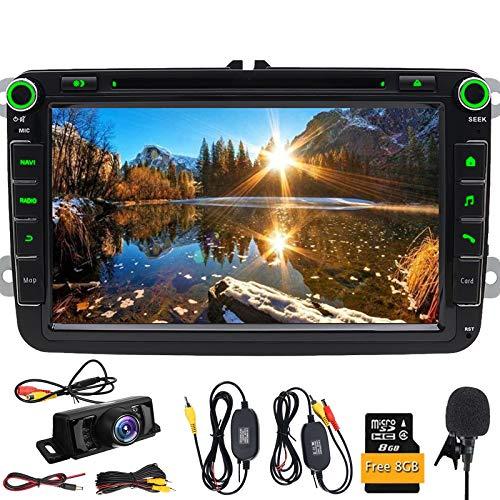 Per VW auto stereo 20,3cm 2DIN GPS lettore DVD di navigazione Bluetooth DVD/CD/USB/SD/MP4/MP3/Swc Player subwoofer Jetta autoradio per Passat VW GOLF V JettaCaddy
