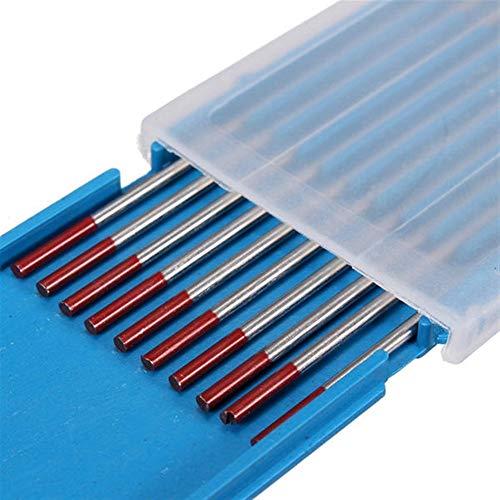 Electrodos de soldadura profesional, Soldadura TIG Electrodo de tungsteno 10pcs 2% 1.6mmx150mm Toriado WT20 rojo - 100 piezas (Package : 50Pcs)