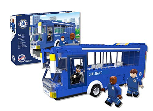 Paul Lamond 7804 Nonostars Chelsea FC Team Bus Brick Construction Set, Blu