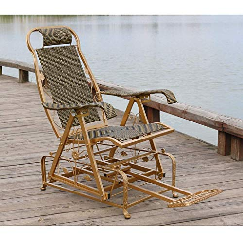 WGFGXQ Rocking chair, reclining camping chair, outdoor leaning backrest, reclining backrest, beach, camping, garden, folding for easy storage lounge chair (Color: A3)