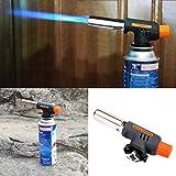 HITSAN - Linterna de gas de encendido automático, para soldar, barbacoa o quemador de butano, una pieza