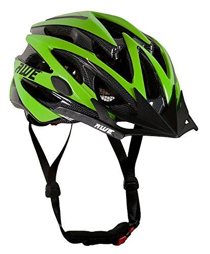 AWE Wave Sostituzione di Crash Gratis 5 Anni * 24 Vents Doppio in-Mould per Casco Bici Adulto 56-58cm Nero/Verde