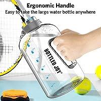Bottiglia d Acqua, GHONLZIN Water Bottle 2.5 L Borraccia sportiva acqua con Indicatore del Tempo Bottiglia d'Acqua Senza BPA per Corsa, Ciclismo, Lavoro e Palestra #4