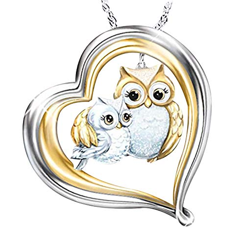 HINK Fashionable Temperament Lovely Owl Necklace Reveals Your Personality