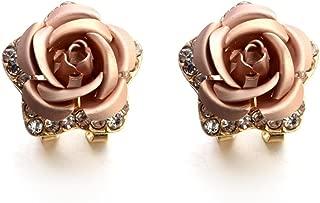 VJGOAL Damen Ohrringe, Frauen Mädchen Modeschmuck Böhmen Blume Strass Ohrringe Sommer Stil Party Frau Geschenk