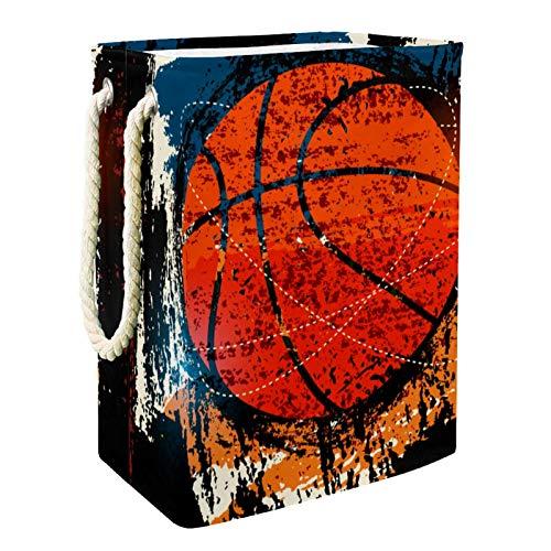 Caja de almacenaje Baloncesto Deportivo Cesta de Almacenamiento Plegable para Guardar Juguetes para Bebés y Niños 49x30x40.5cm