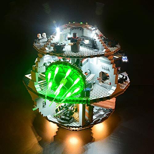 icuanuty Set di Luci per Lego Star Wars Morte Nera, Kit Luce LED Compatibile con Lego 75159 (Non Include Il Modello Lego)