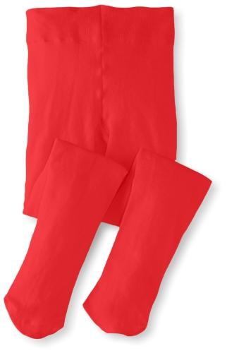 Jefferies Socks Big Girls' Pima Cotton Tights, Red, 6-8 Years