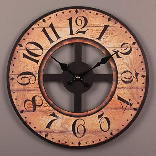 Aralinda Reloj de pared de madera vintage grande Shabby Chic rústico cocina...
