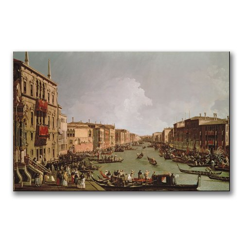 A Regatta On The Grand Canal by Canaletto, 30x47-Inch Canvas Wall Art