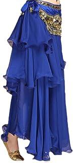 GAGA Women's Beach Wrap Sequins Tassel Mini Skirts Belly Dance Hip Scarf Belt