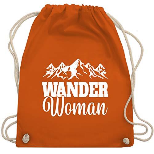 Sonstige Sportarten - Wander Woman - weiß - Unisize - Orange - Backpacker - WM110 - Turnbeutel und Stoffbeutel aus Baumwolle