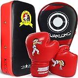 Boxset für Kinder 3 in 1 mit Lochmatte Boxhandschuhen PU Handmatte Sandsack Boxen Taekwondo...