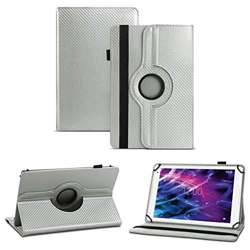 NAUC Schutz-Hülle Medion Lifetab S10351 S10352 Hülle Tasche Cover Tablet-Hülle, Farben:Silber
