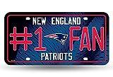 NFL #1 Fan US-Kennzeichen Metall-Schild New England Patriots -
