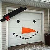 QUUY DIY Christmas Snowman Decoration, DIY Felt Christmas Snowman Set DIY FeltChristmas Snowman Games Set Puerta de Garaje Old Man Elk Bow Hat para Exteriores Decoración navideña