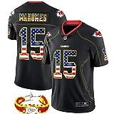 2020 dernière Version personnalisée des Fans Kit de t-Shirt de Football américain Chiefs, numéro 15 Mahomes Uniforme de Rugby Le Plus Populaire, pour Halloween-XL