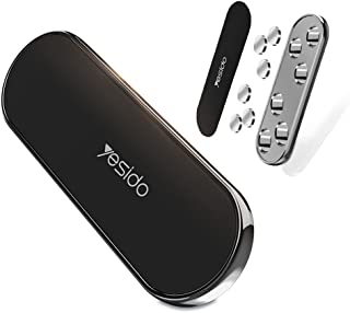 YESIDO C83 Mobile Phone Magnetic Car Holder With Two (2) Units Metal Sheets Compatible with iPhone 12 mini/12/12 pro, Sams...