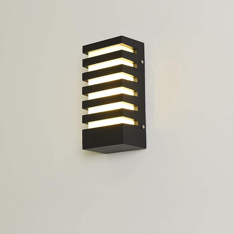 Ganeep LED PVC Wandleuchte AC 110-240V Moderne Minimalistische Aluminium Wandleuchte Outdoor 6 Watt Wasserdichte IP65 Home Flur Balkon Dekorative Lichter (Gre   C)