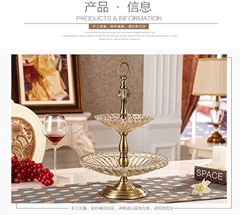 SOWHH Assiette de Fruits Accessoires de Maison Cristal modèle de Plaque de Fruits en Verre Maison Vente directe à Double étage, 30  30  43