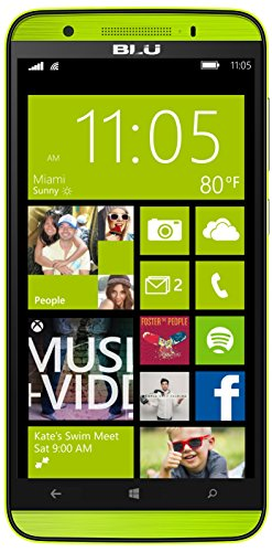 BLU Win HD LTE Smartphone (5,0 Zoll (12,70 cm) Touch-Display, 8 GB Speicher, Windows 8.1) gelb