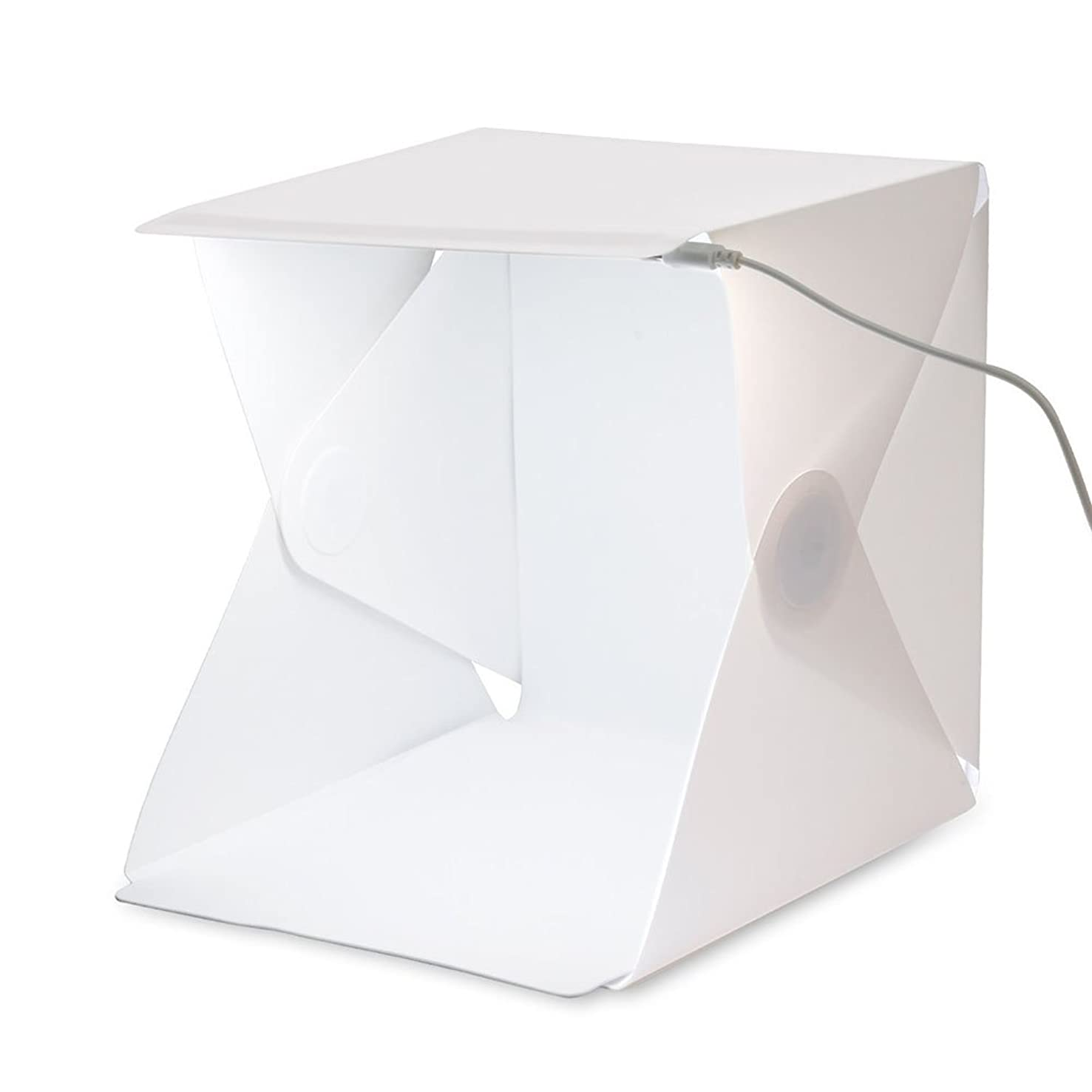 SLFC Folding Portable Lightbox Studio - Take Pictures Like a Pro on the Go with a Smartphone or DSLR Camera built-in Light Photo Box 22.6cm x 23cm x 24cm