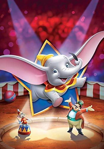 GUANGMANG - Puzzle 1000 Teile Dumbo Filmplakate - Klassische Puzzle, 1000 Teile, Edle Motiv-Schachtel, Fotopuzzle-Kollektion - 75X50Cm