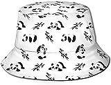 Unisex Animales exóticos del zoológico Sombrero de Cubo de Viaje Gorra de Pescador de Verano Sombrero para el Sol-Lindo panda1